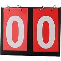 e55752d10bd71 P Prettyia Marcador para Baloncesto Fútbol Tenis de Mesa Portátil  Multifuncional de Números Blancos - Rojo