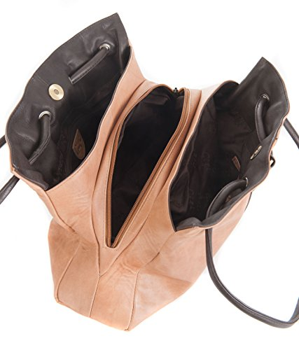 Gigi, Borsa a spalla donna Dark Brown/Honey medium Honey/Dark Brown