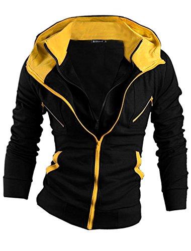 allegra-k-herren-kangurutasche-langarm-casual-kontrastfarbe-design-mantel