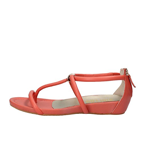 BIBI LOU sandali donna bianco / corallo pelle (37 EU, Corallo)