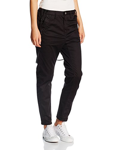 G-STAR RAW  Damen Hose Bronson Braces Low Boyfriend Chino, Black 990, W31L30 (Herstellergröße 31 30)