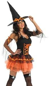 Orange Tutu Witch - Adult Halloween Fancy Dress Costume