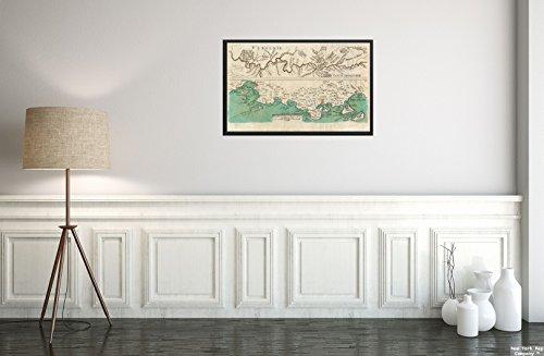 New York Map Company () 1760Karte Allegheny River|Pennsylvania|France|Provence die Allegheny Ohio Flüsse; Fran|Historic Antik Vintage Reprint|Ready Zum Rahmen