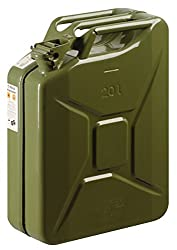 S Style Green Jerry Can Metal Construction 20 Litre