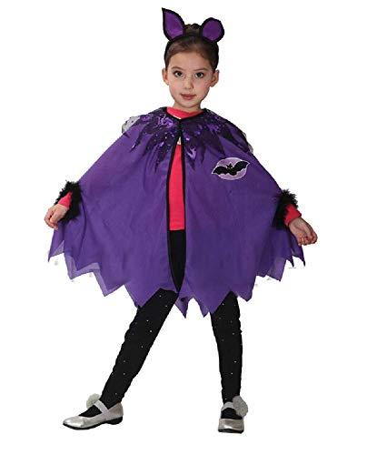 (110-120 cm) - Fledermaus-Kostüm - Fledermaus - Batman - Kleines Mädchen - Verkleidung Karneval Halloween Cosplay-Zubehör ()