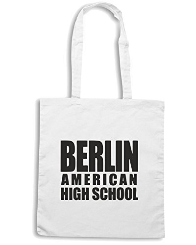 T-Shirtshock - Borsa Shopping OLDENG00021 berlin american high school Bianco