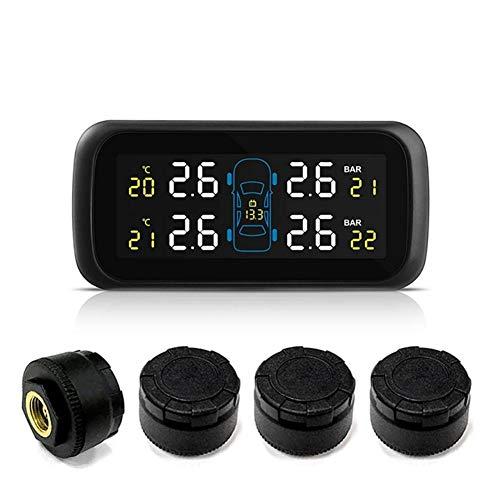 Sommer's Laden Reifendruckkontrollsystem Universal-Auto Wireless TPMS Reifendruck Kontrollsystem-Zigarettenanzünder-Reifendruckmesser TPMS-Farbanzeige Anzeige TL-Sensor Eingebetteten Monitor