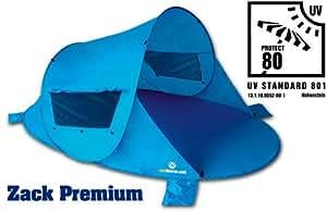outdoorer Wurf-Strandmuschel Zack Premium Blau, UV 80