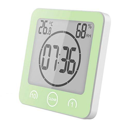 Preisvergleich Produktbild GuDoQi Badezimmer Uhr Dusche Timer Wand Wecker Digitaluhren Steckdose Bad Wasserdicht Innen Thermometer Hygrometer Für Dusche Kochen Make-Up