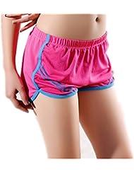 Pantalones cortos para mujer, RETUROM De alta calidad de la Mujer Deportiva De Correr De Yoga Running Shorts Transpirable (Rosa caliente)