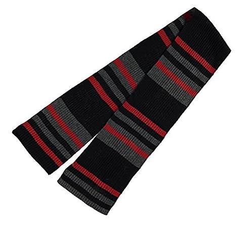 Pierre Cardin Mens C Knit Scarf SNR61 Black Stripe -