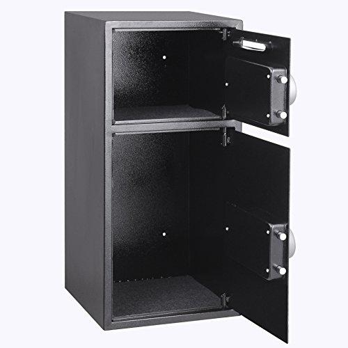 VEVOR Elektronischer Safe Tresor Doppeltüren Sicherheitsschrank 3MM Stahltür Möbeltresor Elektronikschloss Tresore für Geld Schmuck Waffen - 4