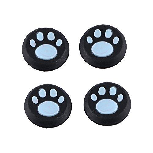 k-Schutzkappen für Controller mit Katzenpfoten, für PS3, PS4, Xbox Spielkonsole, Controller, Joystick-Gamepad, 4 Stück blau ()