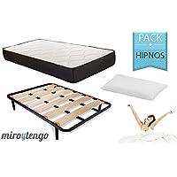 Pack Hipnos Descanso completo 150X190 (colchon + somier + patas + almohada)