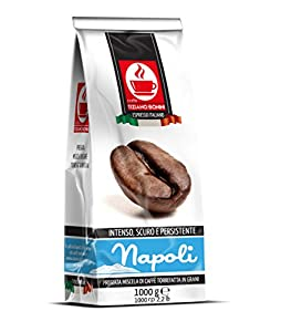 Napoli: 1kg Italian Blend Roasted Coffee Beans: Intense, Dark & Persistent