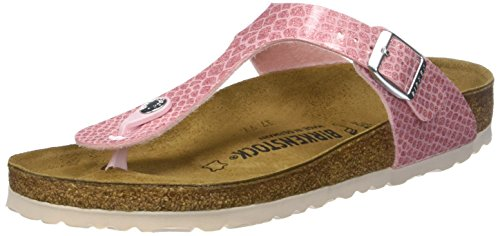 BIRKENSTOCK Damen Gizeh Zehentrenner, Pink (Noir Magic Snake Rose Noir Magic Snake Rose), 40 EU