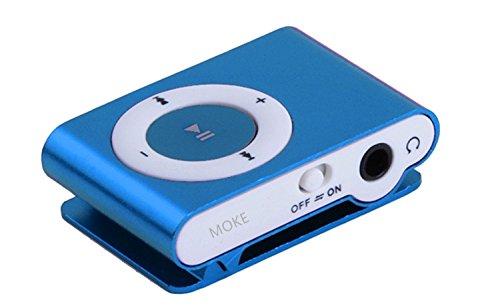 MOKE neue Mini-Metall-MP3-Unterstützungs-Mikro-Sd TF USB-Media-Spieler-Musik-gelegentliches für Sport u. Laufende MEMORY EXPANDABLE OBEN 16GB (KEINE SPEICHER- / Sd-Karte) (blau) (Wie Zum Download Von Mp3-player)