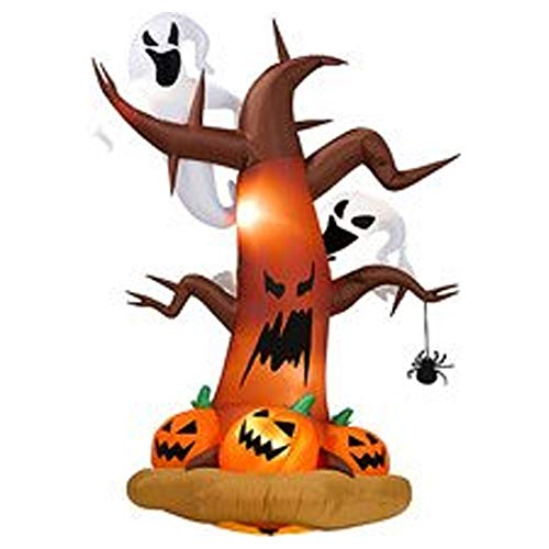 ZBW Halloween-Aufblasbare Baum mit Geister auf der Oberseite, Kürbisse auf der Unterseite, 244 cm hoch