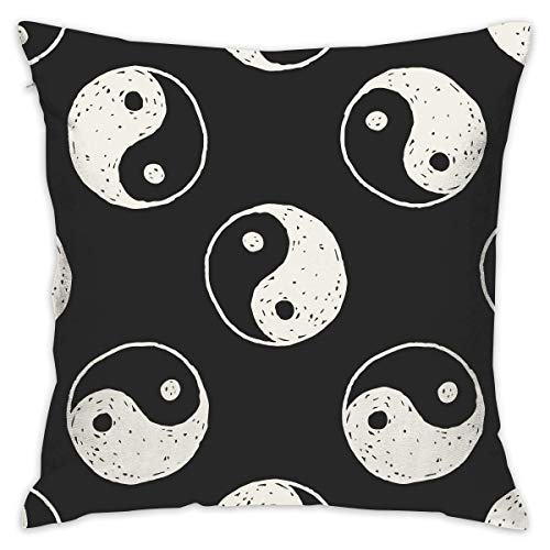 LULABE Chinese Taiji Lover Yinyang China Decorative Throw Pillow Modern Square Form Stuffer for Couch Sofa Or Bed Set Cozy Home Decor Size:16 X 16 Inches/40cm x 40cm Mens Plain Front Chino