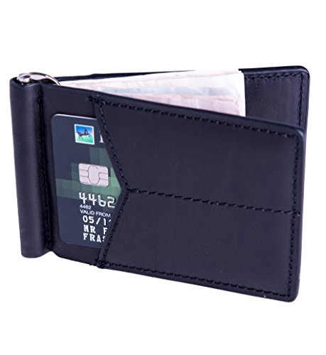 mens-black-minimalistic-small-bifold-front-pocket-italian-leather-wallet-money-clip-credit-card-hold