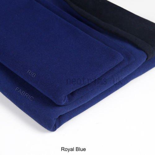 ib Elasthan Neotrims Stretch Rippe Stoff Material, weich Griff mit großen Recovery. Elastisch Einsatz Garment Manschetten, Bund und Kragen, auch Verwendung Stretch Fit Kleidungsstücke Apparel, Textil, königsblau, 1m Fabric + 1/2m Rib Combo (Furry Kostüm Design)