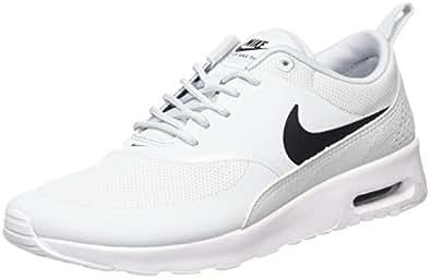 Nike Air Max Thea, Baskets Femme, Argent (Pure Gris Platinum/Black-White), 36 EU