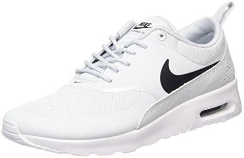 Nike Camo Schuhe (Nike Air Max Thea 599409 Damen Laufschuhe, Elfenbein (Pure Platinum/Black/White), 38 EU)