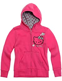 Hello Kitty Fille Sweat zippé à capuche - fushia
