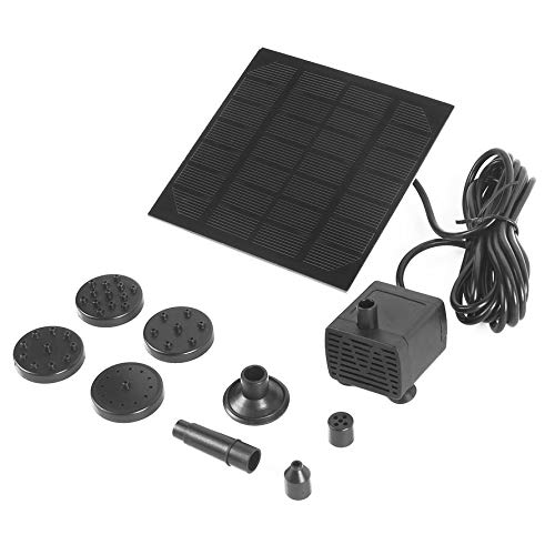 Submersible Fountain Pump Kit (HoganeyVan Solar Panel Power Water Pump Fountain Pump Kit for Outdoor Pool Garden Pond Submersible Square Watering Pump Quick Start)