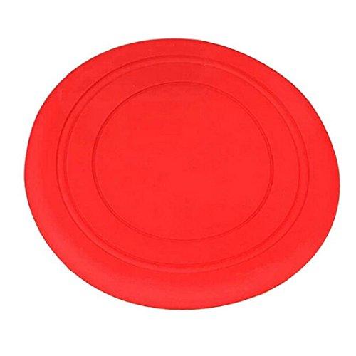 Cane Gioco Frisbee - SODIAL(R)Giocattolo per Cane Gioco Frisbee Formazione Disco Volante Denti Disco Fetch (Rosso)