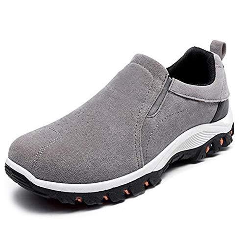 LuMon 1 par de Zapatos de Senderismo para Hombre, Transpirables, Antideslizantes, Impermeables, para Escalada, exploración, Camping, montañismo, Caminar, Pesca, Playa, etc, Gris, 44
