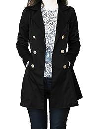 SODACODA Frauen Sanduhr Trenchcoat - Frühling Sommer Herbst - Elegante Mantel Schöne Jacke - XS-XL