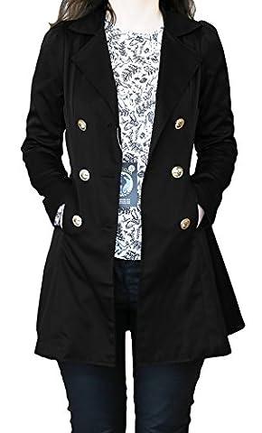 SODACODA Women`s Hourglass Trench Coat - Black - XL