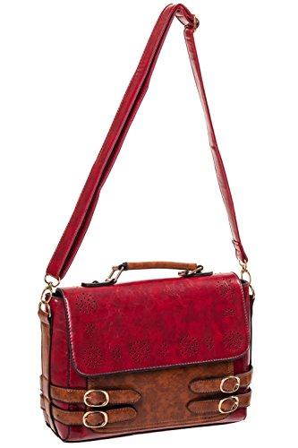 Banned da donna, borsetta BBN7052, rosso, marrone chiaro, colore: beige