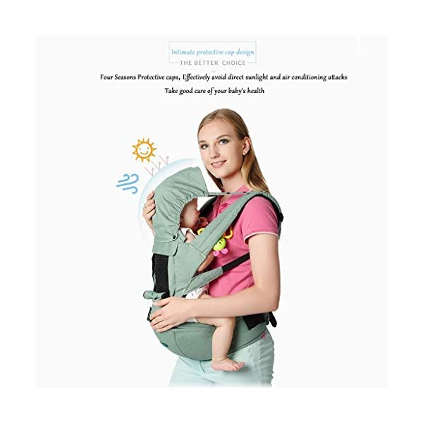 TONGSH Baby Carrier Infant Toddler Baby Backpack in Ergonomic Position 3 Carrying Ways with Large Breathable Mesh Accessories Pockets and Hood (Color : C)  √ TRIANGULAR EFFORT DESIGN: ergonomic baby carrier, distracting the baby's gravity, making the mother's shoulders, waist and abdomen evenly stressed, making the mother easier and more comfortable √ BREATHABLE WIDENED SHOUDER STRAP: flexible shoulder strap, selected with high-quality material, high elastic breathable, widened and thickened shoulder strap, which ensures refreshing and breathable, and enhanced support √ HIGH-QUALITY COTTON MATERIAL: cotton and polyester-cotton fabrics ensure the baby's comfort, breathable, wear-resistant, skin-friendly and comfortable, giving the baby a more comfortable feeling 4