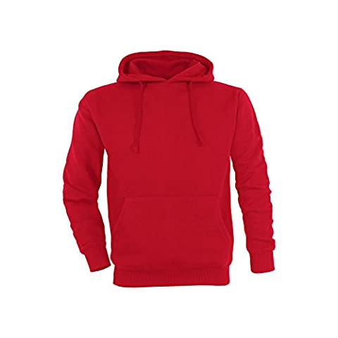 Basic Pull à capuche Hoodie Sweat-shirt / taille M / couleur rouge