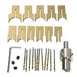 TOOGOO 24PZ Coltello A Sfera In Metallo Utensili Per La Lavorazione Del Legno Perline In Legno Trapano Perlina Rotativa 6-25Mm