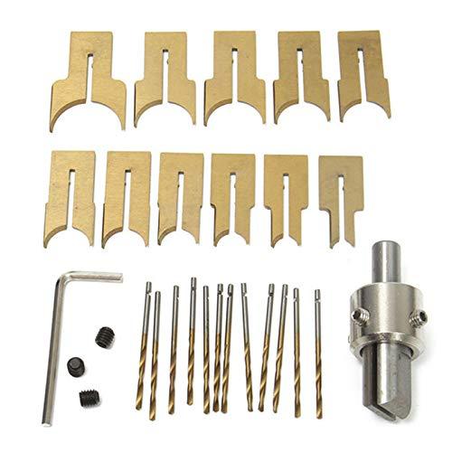 TOOGOO 24 Stücke Metall Ball Messer Holzbearbeitungs Werkzeuge Holz Perlen Bohrer Dreh Perle Molding 6-25 Mm