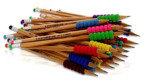 Bleistifte mit Griff - 36 bruchfeste HB Bleistifte mit Radiergummi - Hochwertiger ergonomischer Schaumgriff - Umweltfreundliches FSC Holz, TÜV Nord, CE, EN71 zertifiziert