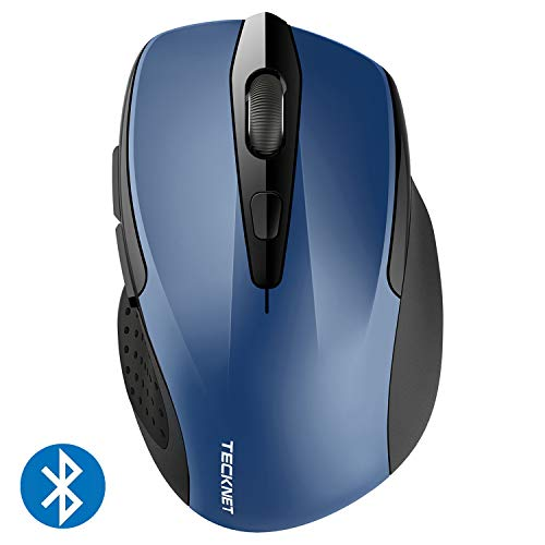 TECKNET Bluetooth Maus, Kompakte Wireless Kabellose Bluetooth Mouse, 5 verstellbare DPI Level, bis zu 2600 DPI, 12 Monate Batterielaufzeit