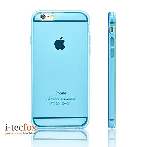 i-tecfox :: iPHONE 6 / 6S PREMIUM GEL COVER - TRANSPARENT [ GOLD ], Silikon, Smart Case, Schutz Hülle, Bumper, Skin blau