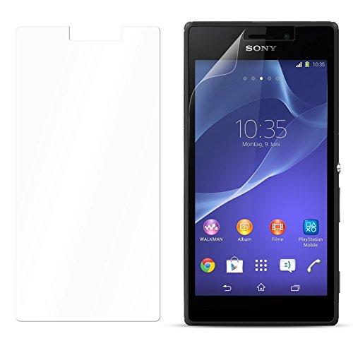 eFabrik Displayschutzfolie für Sony Xperia M2 ( D2303 , D2305 , D2306 ) Smartphone Kratzfest Anti Beschlag Handy Zubehör Schutzfolie Kristall klar Transparent