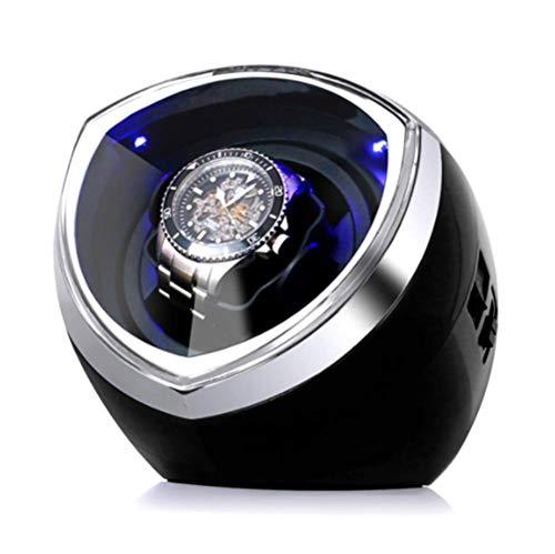 YWT Automatischer Einzel-Uhrenbeweger mit japanischem Silent-Motor, 4 Drehmodus-Einstellungen, Geeignet für Damen- und Herren-Automatikuhren, Schwarz