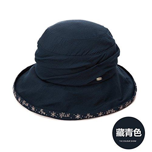 LLZTYM Femme/Parasol/Été/Crème Solaire/Chapeau De Soleil/Extérieur/Chapeau De Pêcheur/Cadeau/Tête/Chapeau Blue