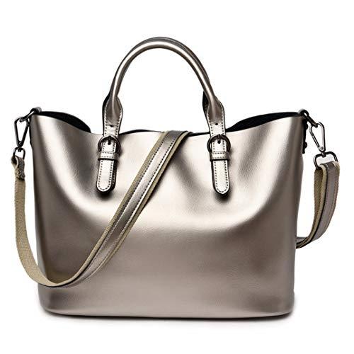 Skyinbags Damen Single Schulter Taschen Handtaschen Europa Und Amerika Simple Fashion, Silbrig