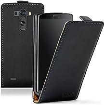 Membrane - Ultra Slim Negro Funda Carcasa para LG G3 (D850, D855, D851, D859, F400, F400S, F400K, F400L, LS990, Dual Sim) - Flip Case Cover