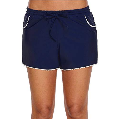 Kostüm Boxer Weibliche - Amadoierly Einzelne Badehose Weibliche Boxer Konservative Dünne Shorts Hot Springs Boyshort Einteilige Damen Bottoms, S