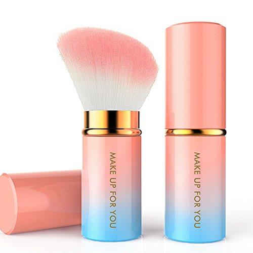Cebbay Pinceaux Maquillage Professionnel Voyage Haut de Gamme,Fibres Synthétiques Souples, Kit de Pinceau de Maquillage cosmétique en Poudre pour Fond de Teint rétractable Kabuki Blush