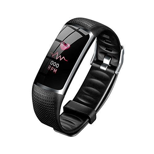 ZIHENGUO Orologio Elettronico Sportivo Multifunzione, Monitoraggio della Frequenza Cardiaca del Sonno, Monitoraggio Dell'ossigenazione del Sangue, Schermo LED Impermeabile IP67,Black