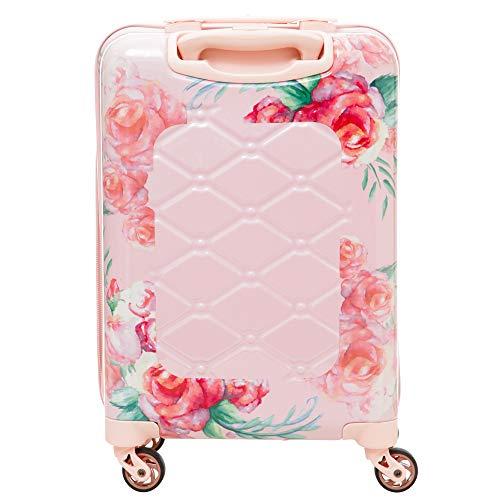 Aerolite Premium Hard Shell 4 Wheel Carry On Hand Cabin Luggage Suitcase, Rose Blush